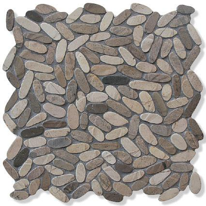 MOSAIK S OVAL GREY MIX 30X30X0,9
