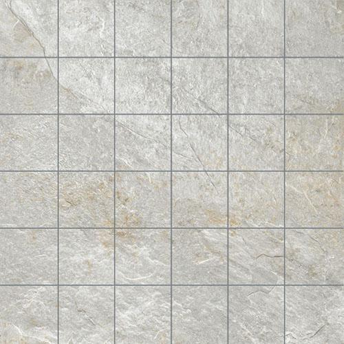 MOSAIK ROCKS SILVER WHITE 5x5