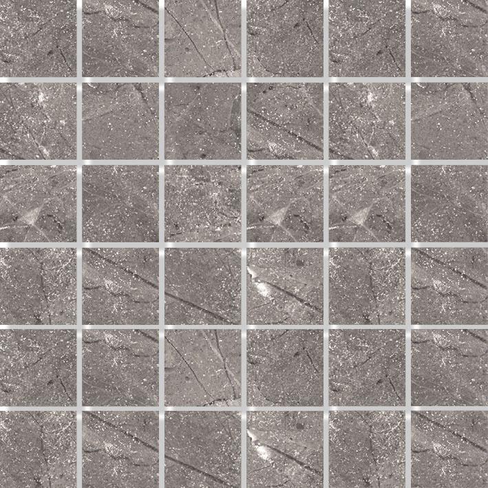 MOSAIK MARBLES GREY POLERAD 4,8x4,8