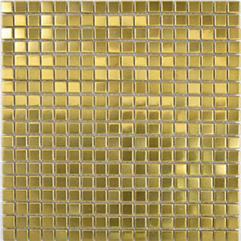 MOSAIK GULD, BORSTAD METALL 1,5x1,5