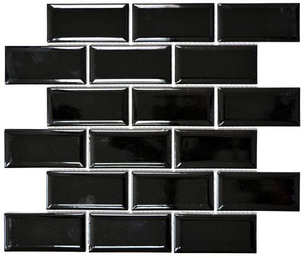 MOSAIK METRO BLACK GLOSS 4,5x9,5