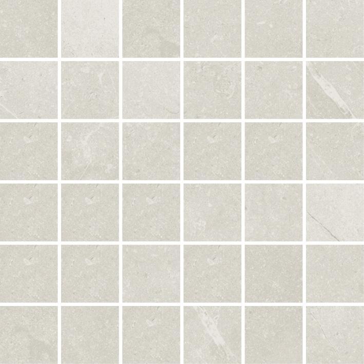 MOSAIK LIMESTONE WHITE POL. 4,8x4,8