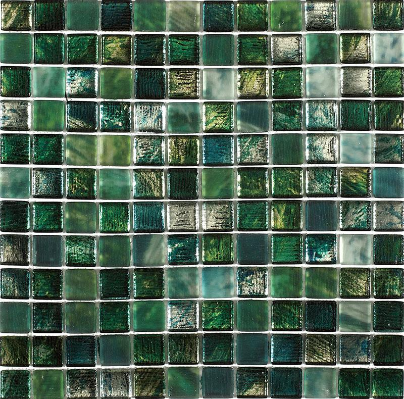 MOSAIK GLAS GREEN MIX 2,3x2,3