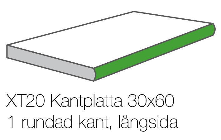 XT20 KONKRETE CENERE KANTPLATTA 30x60x2