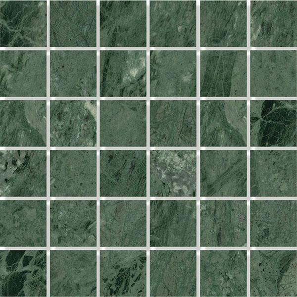 MOSAIK MARBLE GREEN POLERAD 4,8x4,8