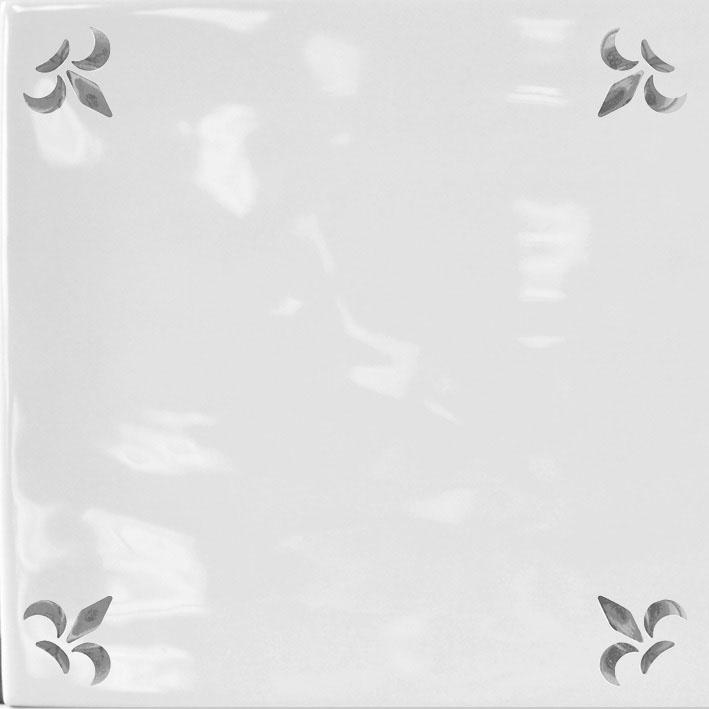 FLOR DE LYS GREY GLOSS 15x15
