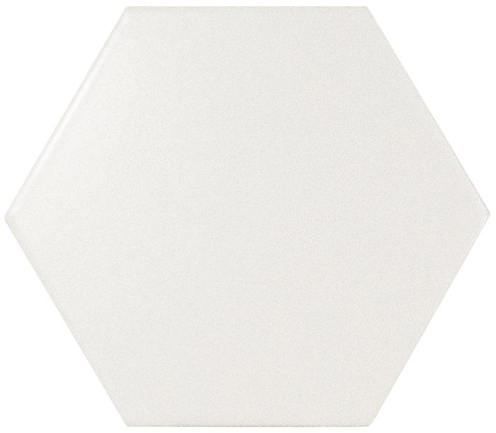 HEXAGON WHITE MATT 14,2X16,4