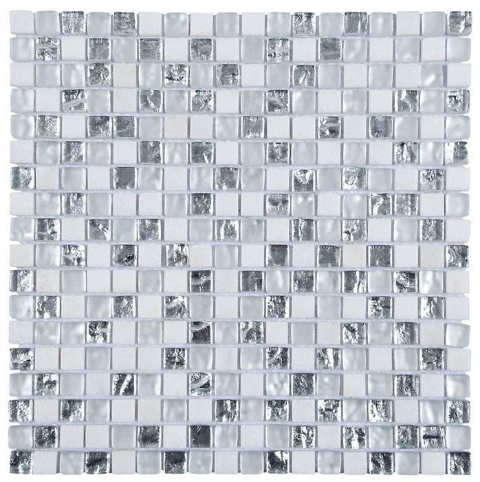 MOSAIK MARBLE MIX GLAS SUPERWH 1,5x1,5
