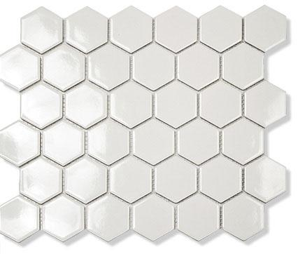 MOSAIK HEXAGON VIT BLANK 5,1X5,9