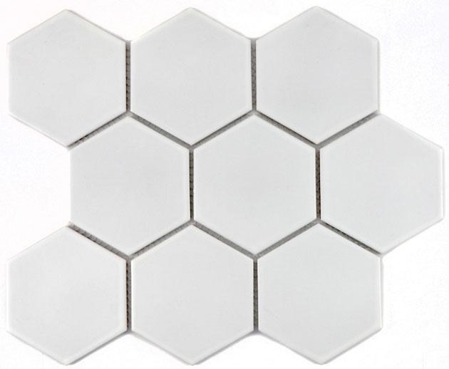 MOSAIK HEXA WHITE MATT 9,5x11