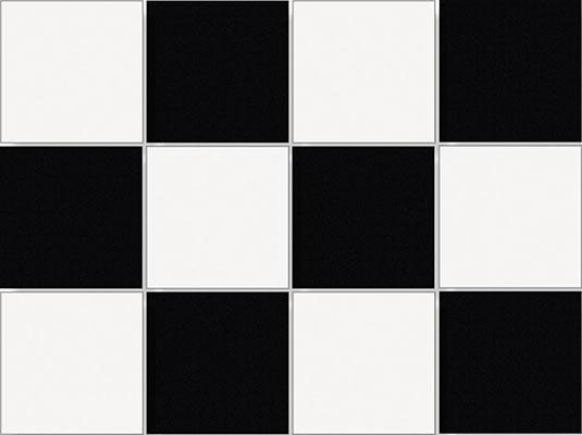 UNI BLACK & WHITE 9,7x9,7 (på ark)