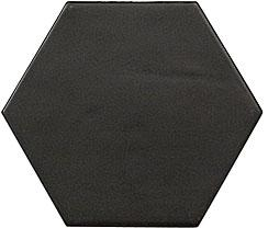 HEXATILE NERO MATE 17,5X20