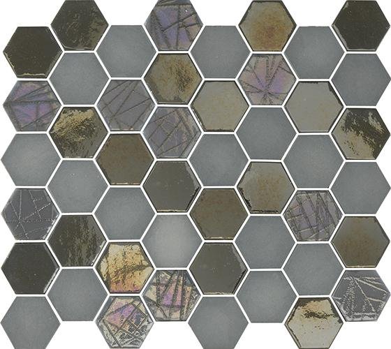MOSAIK SIXTIES HEXA GREY 5x4,3