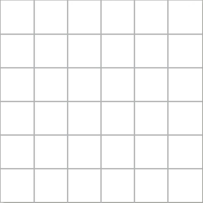 MOSAIK MEGAWHITE POLERAD 4,8x4,8
