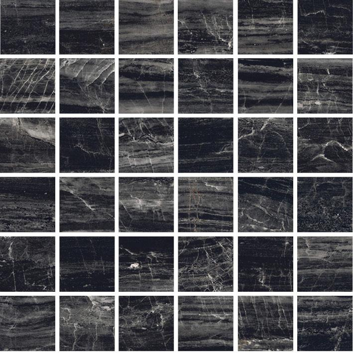 MOSAIK LUX MARBLE BLACK POL. 4,7x4,7