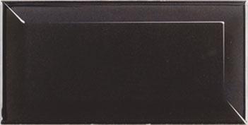 METRO FASAD SVART MATT 7,5X15