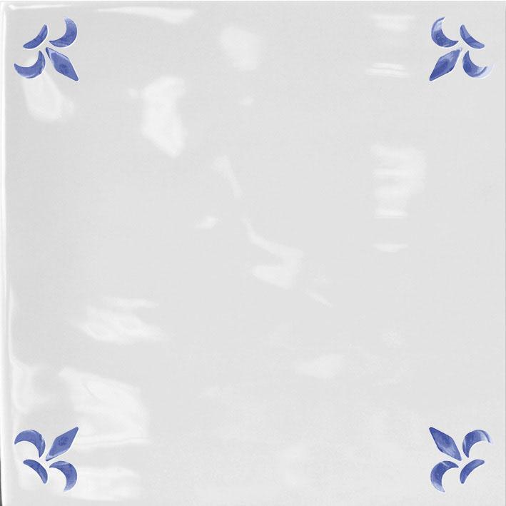 FLOR DE LYS BLUE GLOSS 15x15