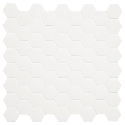 MOSAIK HEXA WHITE MATT 4,3x3,8