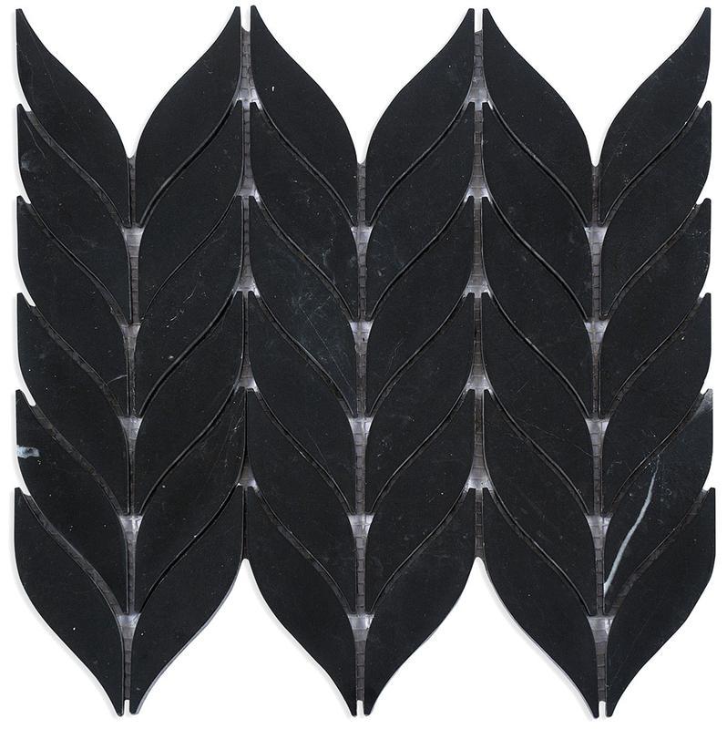MOSAIK MARBLES LEAF BLACK 2,5x10,5