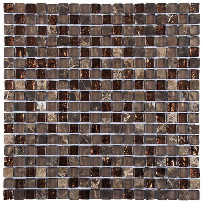 MOSAIK MARBLE MIX GLAS BROWN 1,5x1,5