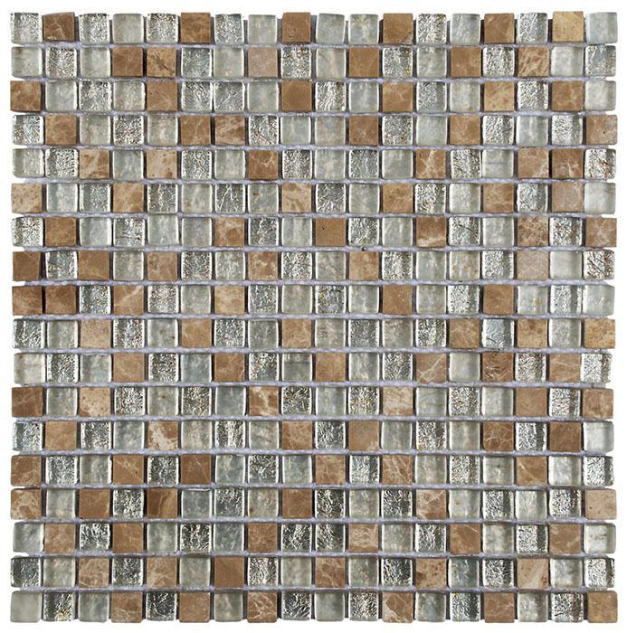 MOSAIK MARBLE MIX GLAS BEIGE 1,5x1,5