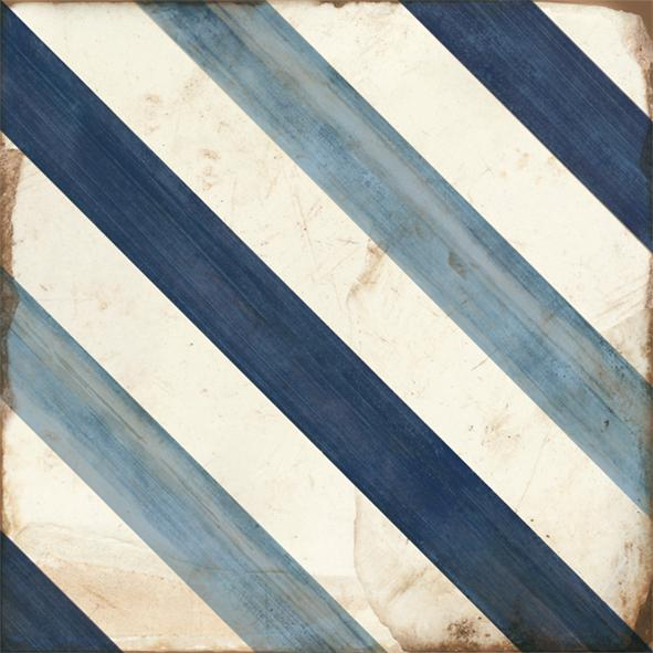 LOFT FLOOR STRIPE BLUE 20x20
