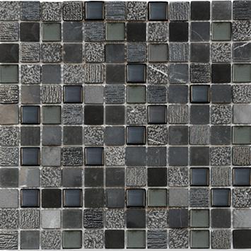 MOSAIK MARBLE GLASMI X NERO 2,3X2,3X8