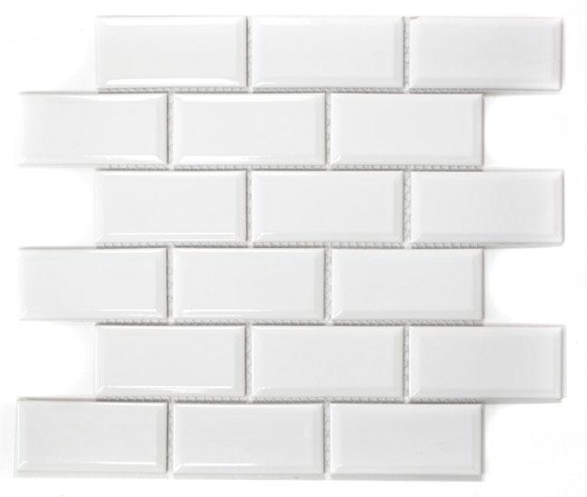 MOSAIK METRO WHITE GLOSS 4,5x9,5