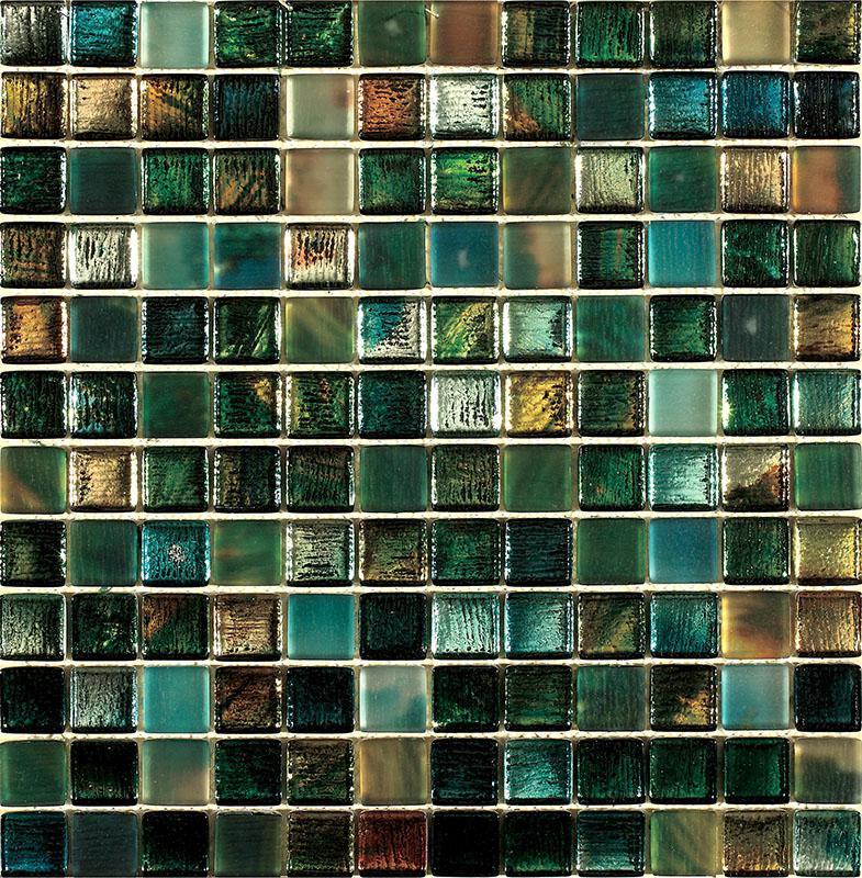 MOSAIK GLAS BLUE / GREEN MIX 2,3x2,3
