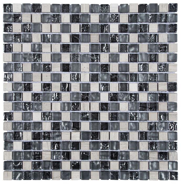 MOSAIK MARBLE MIX GLAS L-GREY 1,5x1,5