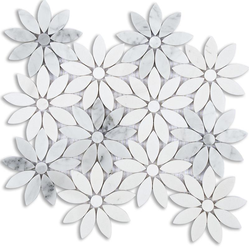 MOSAIK MARBLES FLOWERS 10x10