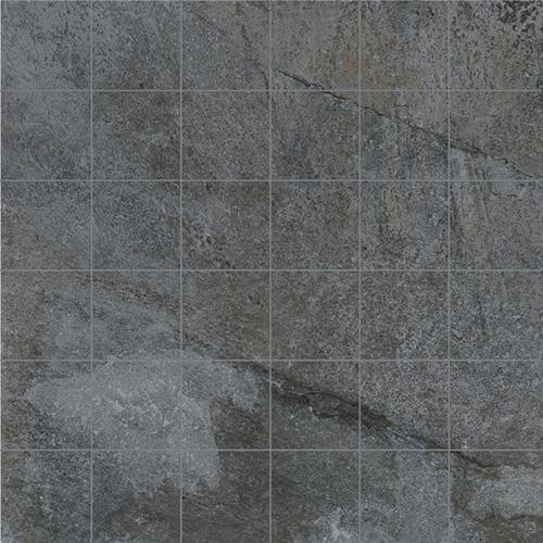 MOSAIK ROCKS SILVER BLACK 5x5