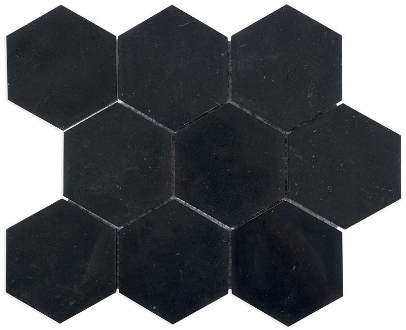 MOSAIK MARBLES HEXA BLACK 10x10