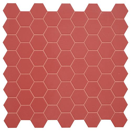 MOSAIK HEXA CHERRY PIE MATT 4,3x3,8