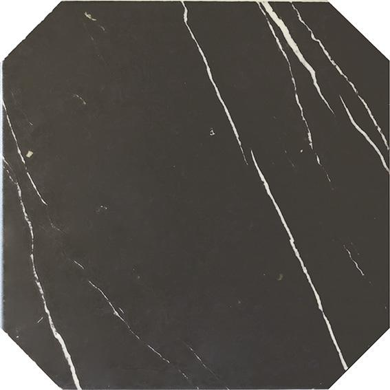 OCTAGON MARBLE BLACK MATT 20x20