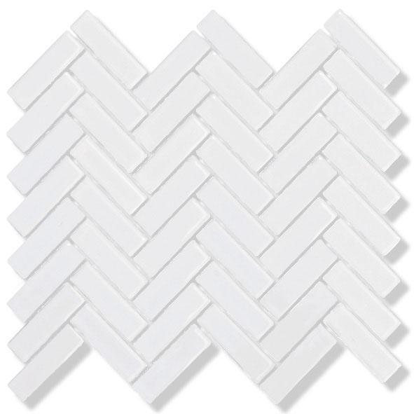 MOSAIK HARRINGBONE VIT BLANK 2,2x7,2