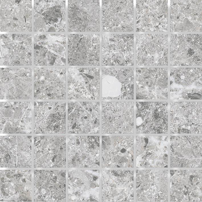 MOSAIK ST STONE GREY MATE 4,8x4,8