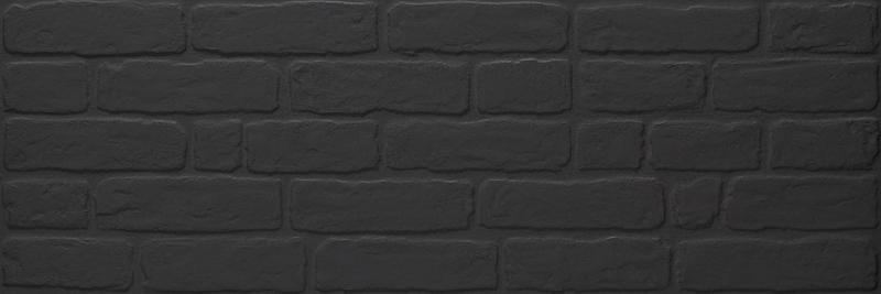 WALLBRICK BLACK RECT 30x90