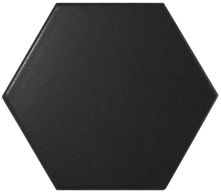 HEXAGON BLACK MATT 14,2X16,4