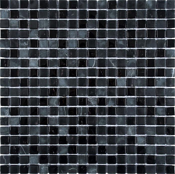 MOSAIK MARBLE MIX GLAS BLACK 1,5x1,5