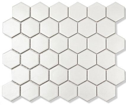 MOSAIK HEXAGON VIT MATT 5,1X5,9