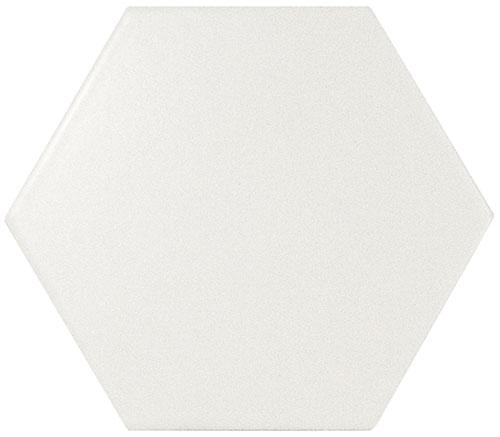 SCALE HEXAGON WHITE MATT 12,4x10,7