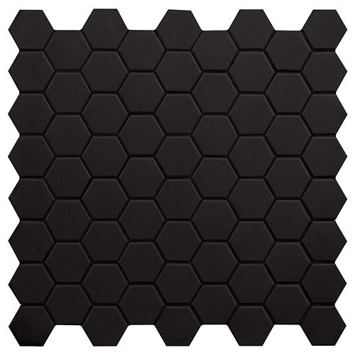 MOSAIK HEXA BLACK SWAN MATT 4,3x3,8