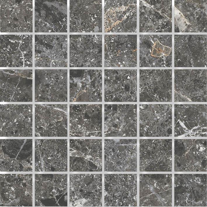MOSAIK ST STONE BLACK MATE 4,8x4,8