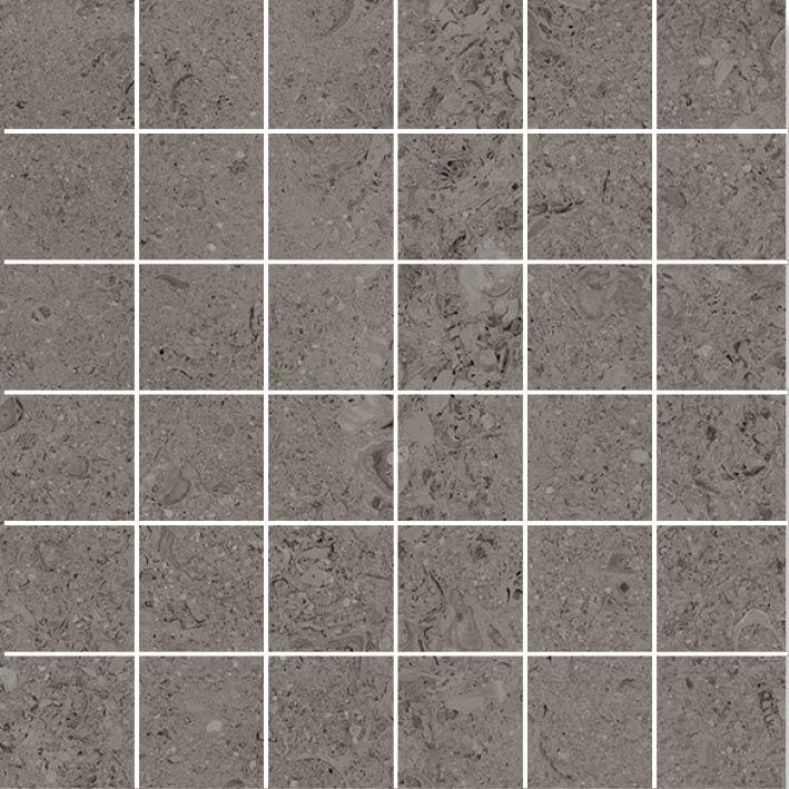 MOSAIK SHELL DARK GREY 4,8x4,8